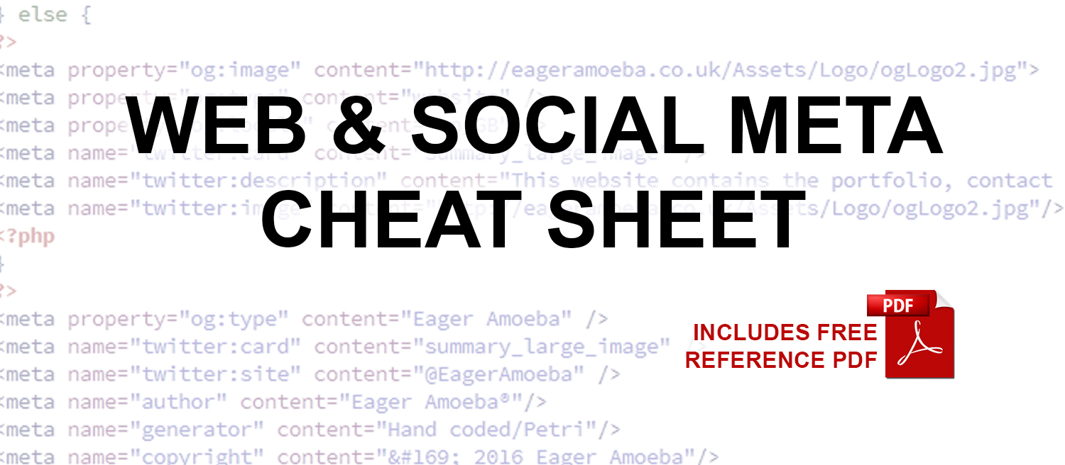 Web & Social Meta Cheat Sheet